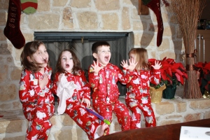 The reactions of seeing Santa!